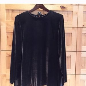 Size S Eileen Fisher brown tunic top